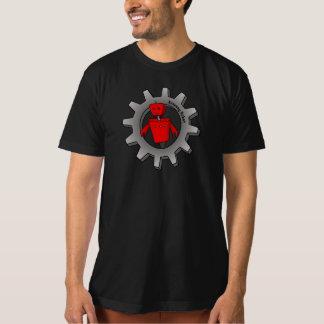 人のオーガニックな逃亡のロボット(ギア) Tシャツ