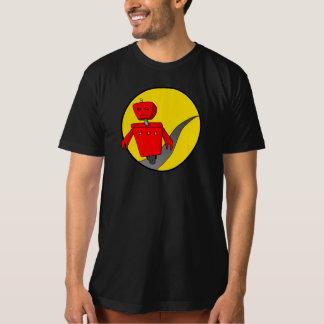 人のオーガニックな逃亡のロボットTシャツ(DarkColour) Tシャツ