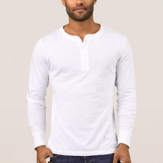 人のキャンバスのHenleyの長袖のワイシャツ Tシャツ