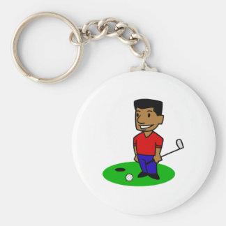 人のゴルファー キーホルダー