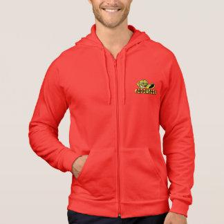 人のジッパーのフード付きスウェットシャツを訓練する赤い時間 パーカ