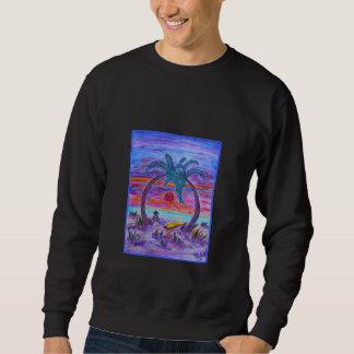 人のスエットシャツ-ビーチのもみ革 スウェットシャツ