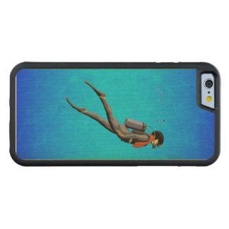人のスキューバダイビング CarvedメープルiPhone 6バンパーケース