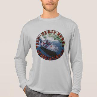 人のスポーツTekの競争相手の長袖のTシャツ Tシャツ