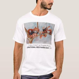 """""""人のティーは友人""""のであろう Tシャツ"""