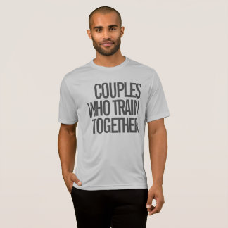 人のトレーニングのワイシャツを一緒に訓練するカップル Tシャツ
