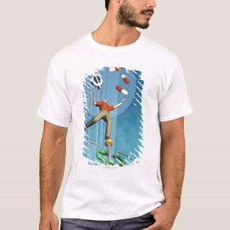 人のバランスをとる薬剤およびドル記号 Tシャツ
