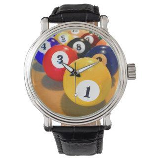 人のビリヤードのテーマ 腕時計