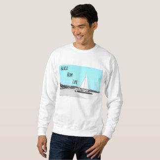人のビーチののらくら者の生命基本的なスエットシャツ スウェットシャツ