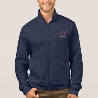 人のファスナーを絞めるフリースのスエットシャツ ジャケット