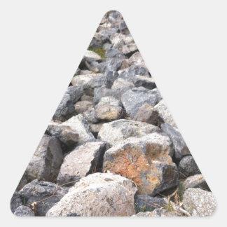 人のブッシュの設定は造岩パターンを作りました 三角形シール