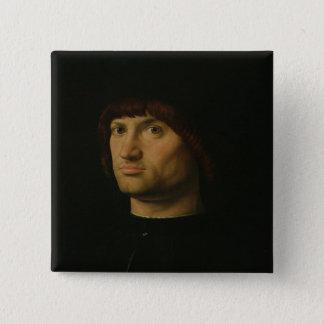 人のポートレート、かCondottiere 1475年(油o 5.1cm 正方形バッジ