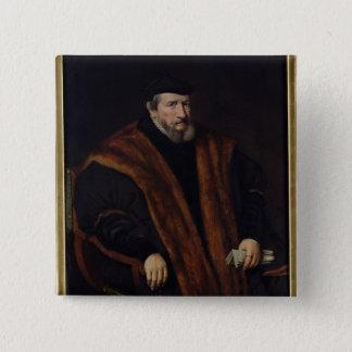 人のポートレート、1564年 5.1CM 正方形バッジ