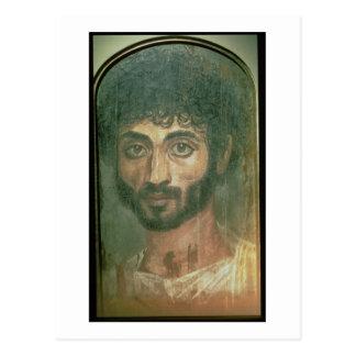 人のミイラのポートレート、Fayumから、ロマノEgypti ポストカード