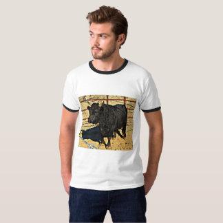 人の信号器のTシャツ-ベビーBull Tシャツ