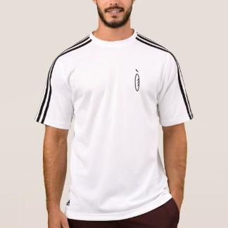 人の共同アディダスClimaLite®のストライプのなTシャツ Tシャツ
