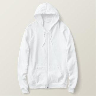 人の刺繍されたアメリカの服装のジッパーのフード付きスウェットシャツ フリースフード付きチャックパーカ