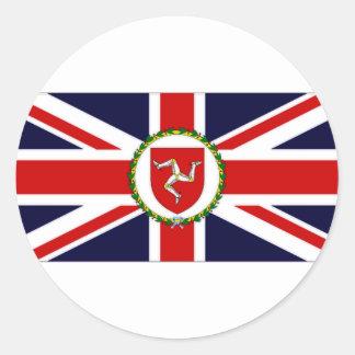 人の副知事旗の島 ラウンドシール