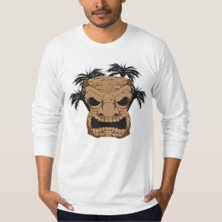 人の合われた長袖のワイシャツを切り分ける悪賢いTiki Tシャツ