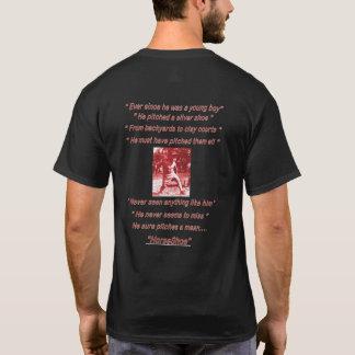 人の基本的な暗い蹄鉄のTシャツ Tシャツ
