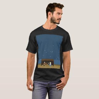 人の基本的な暗いTシャツの出生場面 Tシャツ