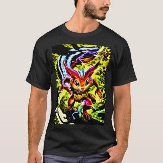 人の基本的な暗いTシャツの日本製アニメの自然の精神のフォーク Tシャツ