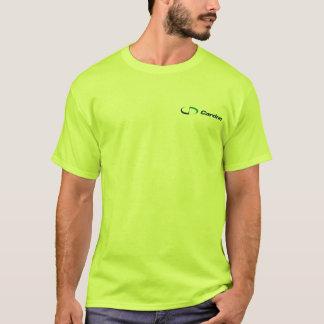 人の基本的な長袖の安全緑のTシャツ Tシャツ