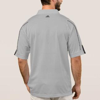人の大きい共同灰色のアディダスのジッパーのプルオーバー(白い) ポロシャツ