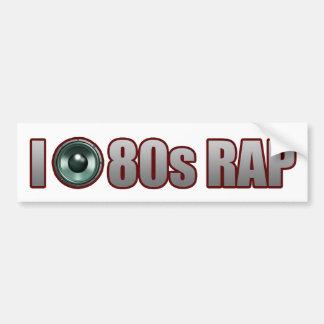 人の女の子80sのラップミュージックのヒップホップの込み合い バンパーステッカー