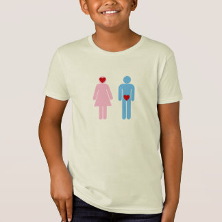 人の女性愛ユーモアのTシャツ Tシャツ
