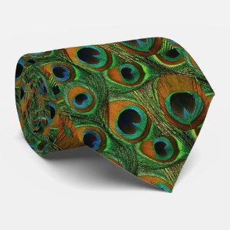 人の孔雀の羽のタイ、ブラウンのティール(緑がかった色)の紫色の緑 オリジナルネクタイ