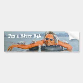 人の川のラットのバンパーステッカー バンパーステッカー