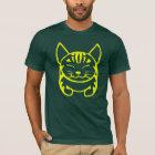 人の幸せな猫のTシャツ(黄色い虎猫) Tシャツ