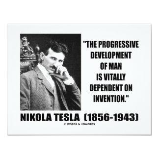 人の引用文のニコラ・テスラの進歩的な開発 カード