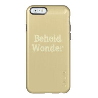 人の心を捕えるスローガンを用いる上品な金ゴールドの場合 INCIPIO FEATHER SHINE iPhone 6ケース