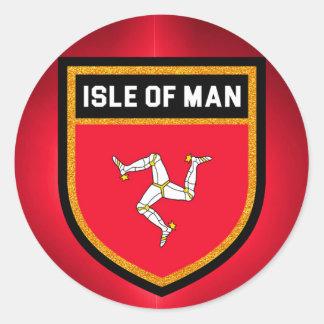 人の旗の島 ラウンドシール