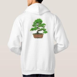 人の日本のな盆栽の木のフード付きスウェットシャツ(白い) パーカ
