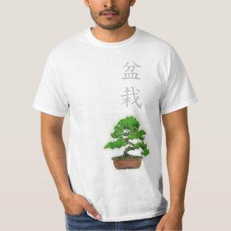 人の日本のな盆栽の木のTシャツ(白い) Tシャツ