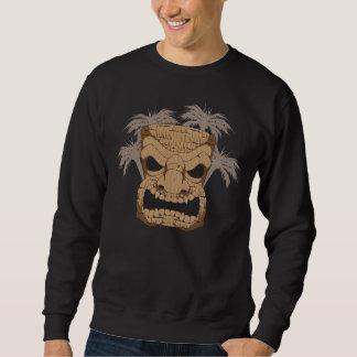 人の暗いスエットシャツを切り分ける悪賢いTiki スウェットシャツ