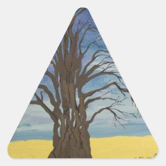 人の木 三角形シール