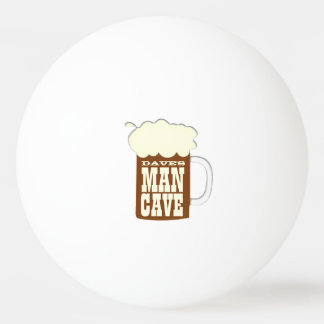 人の洞窟のビールのジョッキ 卓球ボール