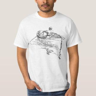人の漕艇 Tシャツ