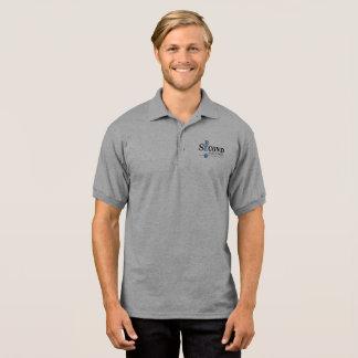 人の灰色のポロシャツ ポロシャツ