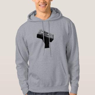 人の煉瓦灰色のフード付きスウェットシャツ パーカ