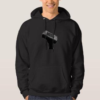 人の煉瓦黒のフード付きスウェットシャツ パーカ