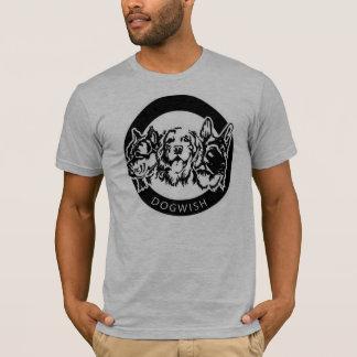 人の犬の願いのTシャツ Tシャツ