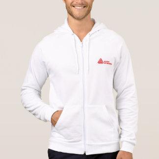 人の白いフード付きスウェットシャツ パーカ