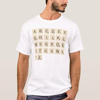 人の白く名前入りなスクラブル Tシャツ