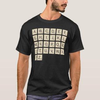 人の着色された名前入りなスクラブル Tシャツ