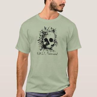 人の石造りの灰色GALSのロゴのTシャツ Tシャツ